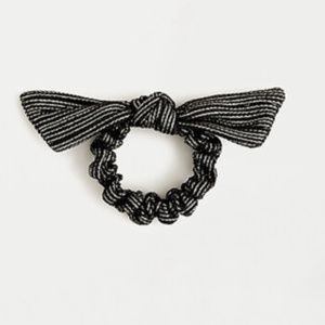 J. CREW Striped Metallic Scrunchie